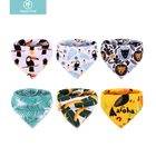 Amazon hot selling baby burp cloths bandana baby bibs 6 pack Manufacturer Wholesale