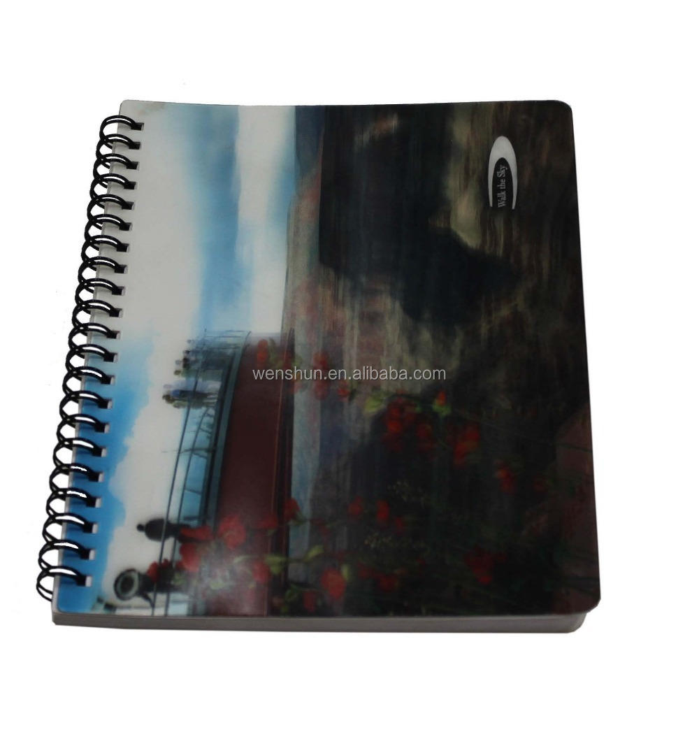 Clear plastic anime pp cover notebook covers