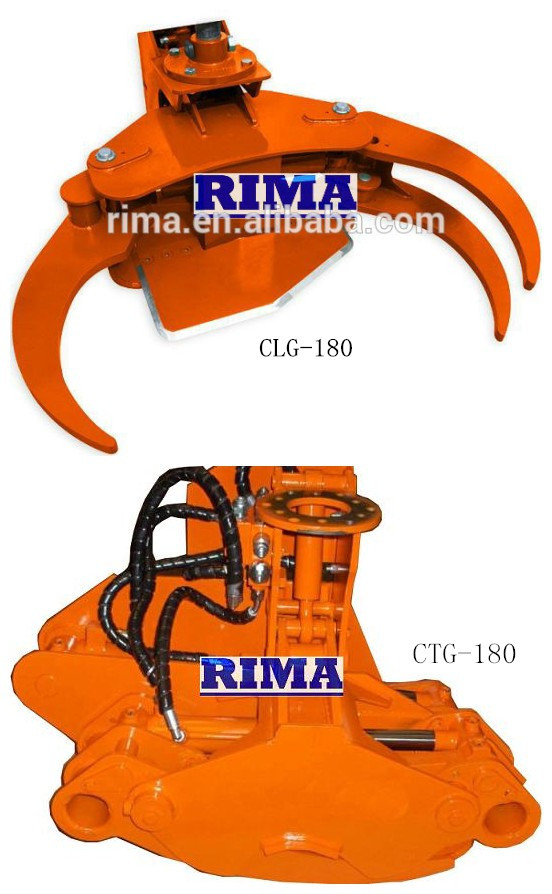 wood cut grapple for log / energy cut grapple / Timber crane -CTG180HOT!!!