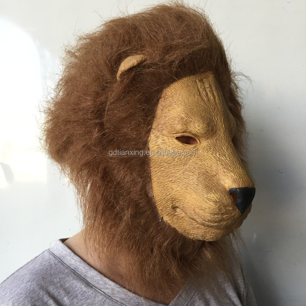 Lion Halloween Mask, Tiger Party Mask, Wolf Latex Mask