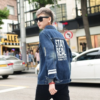 2017 Custom High Quality Jeans Men Denim Jacket Latest Design Jacket