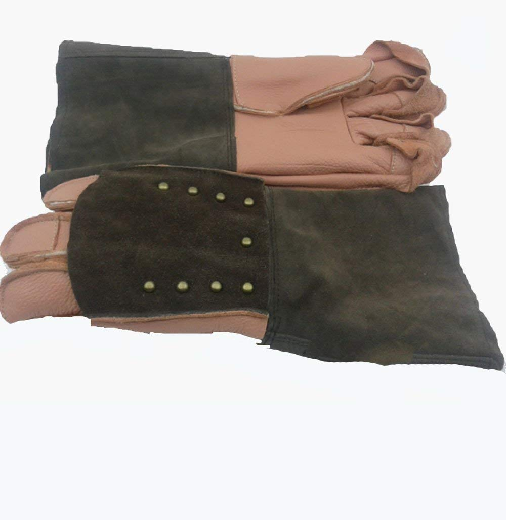 ANHPI Pet Anti-bite Thickening Lengthening Protection Gloves Multi-color Onesize,Brown-Onesize
