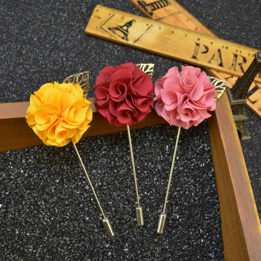 Men S Suits Flowers Brooches For Wedding Pin Up Insert Long Lapel Pins Vintage Mens Metal Leaf