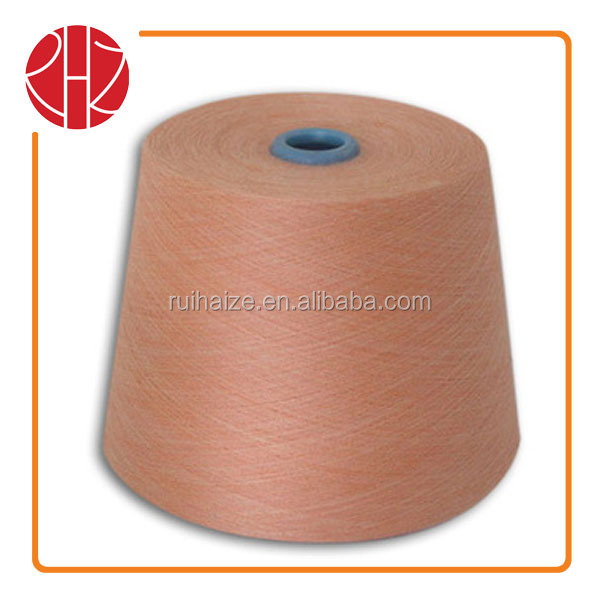 2014 Customized Spun 50% Acrylic 35%Cotton 15%Cashmere blend yarn knitting colored yarn made in China (count 21s-40s)
