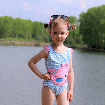 d020e29fbb Baby Girls Kids Cute Swimsuit Bathing Suit Swimwear Beachwear Children One  Piece Bikini Set Swimming Suits