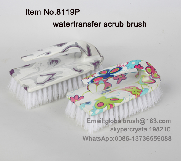 ITEM NO.8119P different design printed cleaning scrub brush