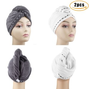 Best quality printed hair drying wrap towel hotel towel