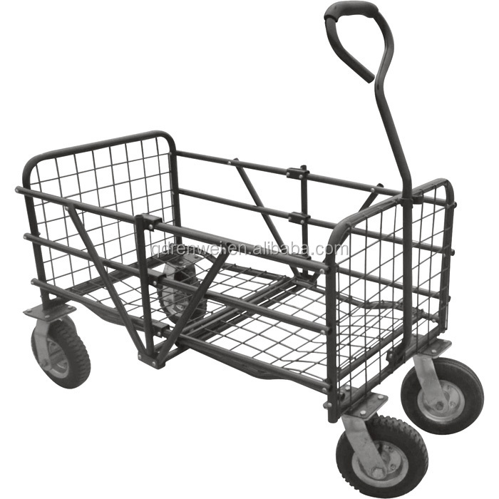 Garden Cart 4 Wheel Wagon Trolley Buy Garden CartWagon Trolley