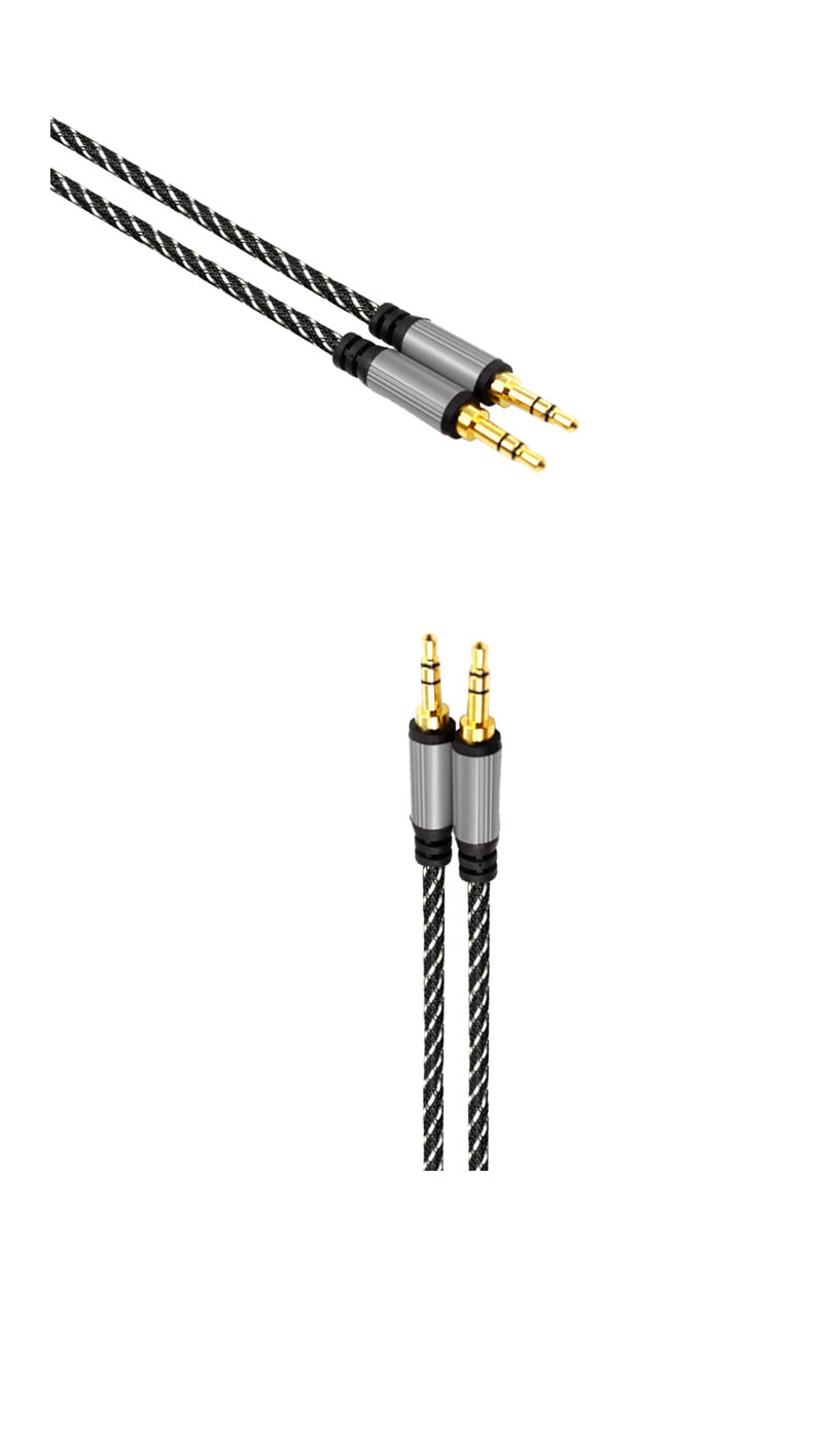 2020 newest Braiding 3.5mm stereo male to male metallic case support dc av video audio AUX Cable