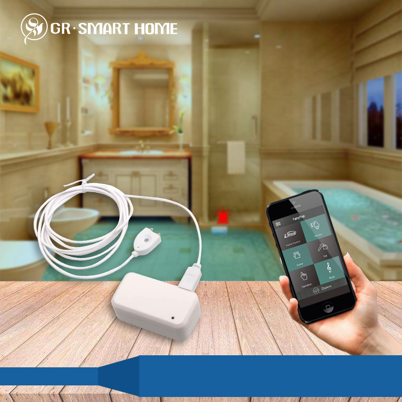 IOT Zwave Water Leak Detector Sensor for Wireless Smart Home Security