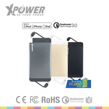 Factory Smart RoHS USB Type-C QC 3.0 Ultra-thin Dark Grey mobile phone Backup Power Bank for IPod