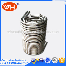 High Quality 316l coil water heat exchanger,beer wort chiller,spiral cooling coil