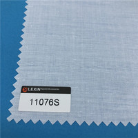 100% cotton woven fusible interfacing shirt interlining fusing interfacing fabric for waistband
