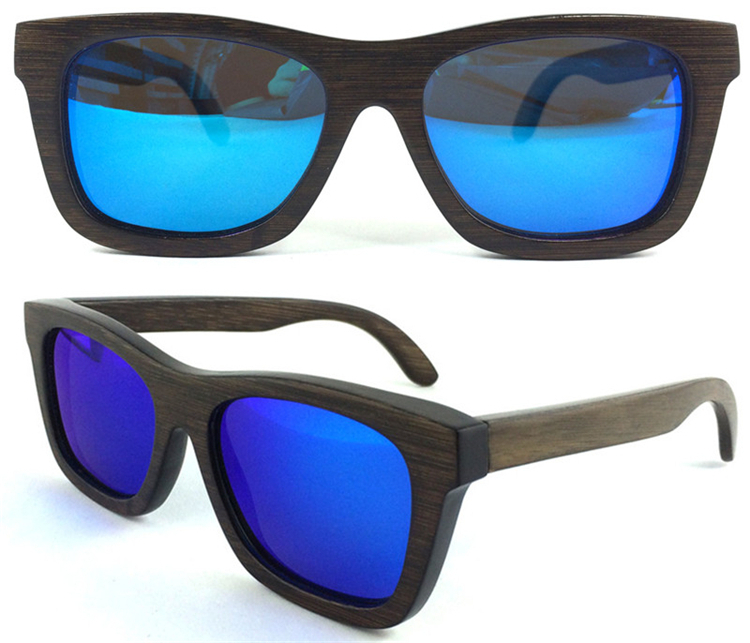 62a6bb3b21abe EMS Frete Grátis com 10pcs Óculos de sol armacao de Quadrado pintado  Espelho Azul lente Polarizado
