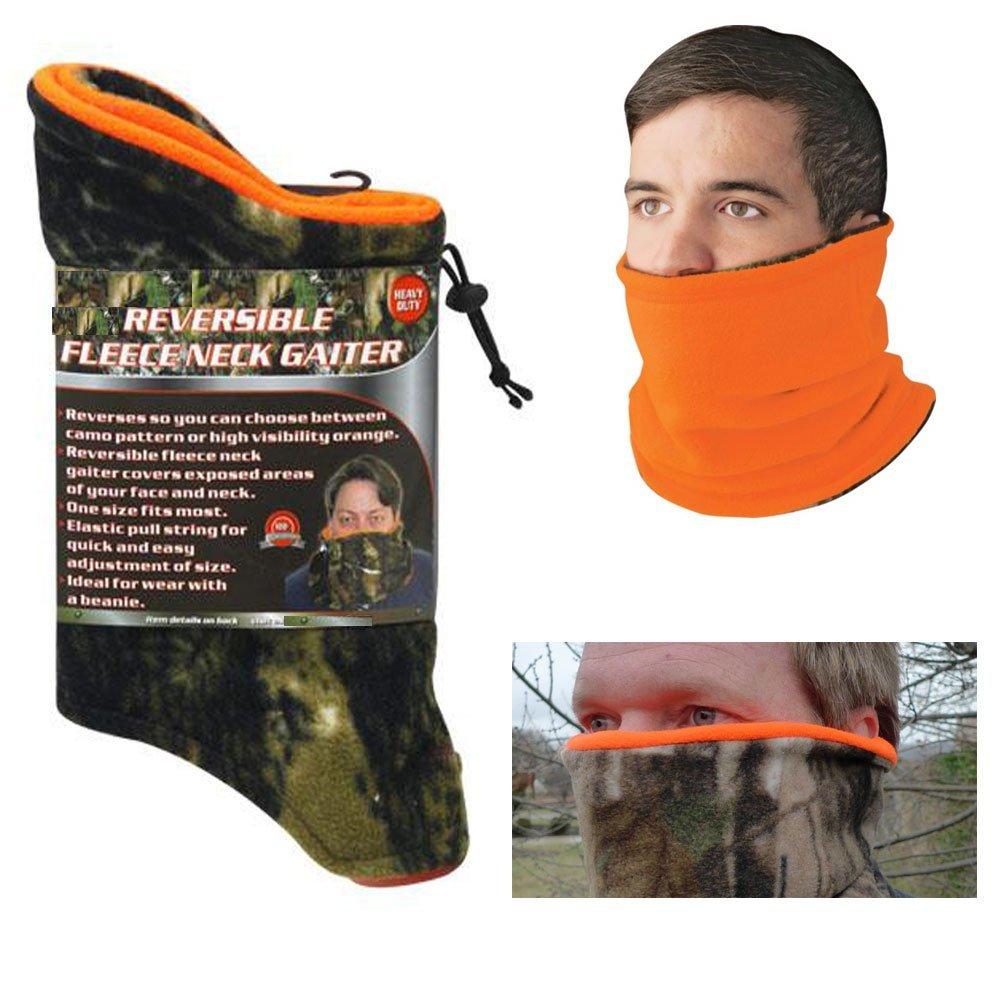 Get Quotations · 1 Neck Gaiter Fleece Reversible Tube Warmer Camo Face  Shield Mask Scarf Muffler 32a73c38e9e99