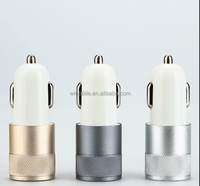 Aluminium 2-port USB Universal Car Charger for iPhone 6/6s/5/4 iPod/iPad Samsung