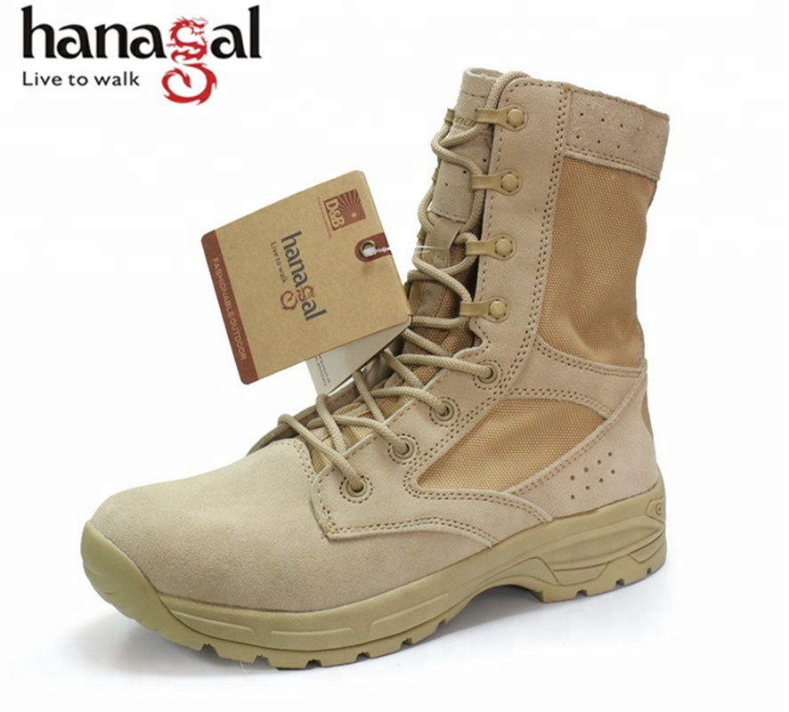 Lightweight Military desert boots for Summer hot weather anti sand tactical boots