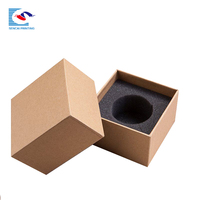 Brown fancy paper mug cup paper packaging box with foam