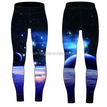 810c8b6186 custom tights women fitness compression pants sublimation printed galaxy  leggings