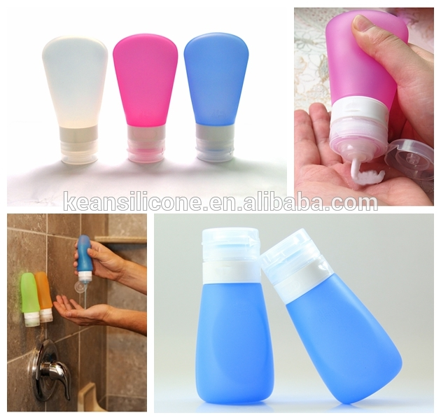 Squeezable Silicone Travel Botle Portable Small Travel Case/Cream Jars Cosmetic