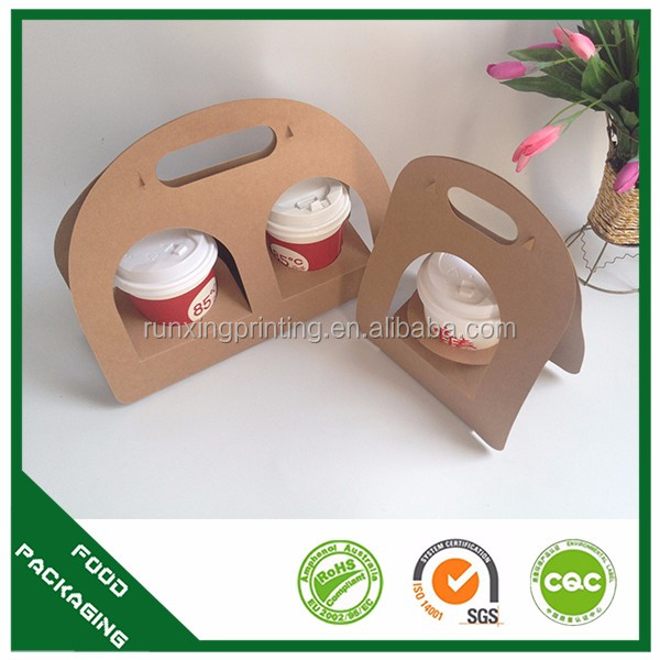 paper coffee cup holder with tray