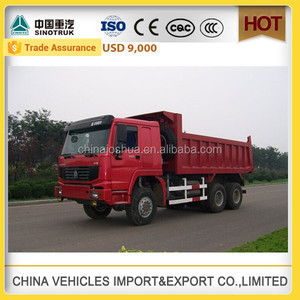 howo right hand dump truck for sale