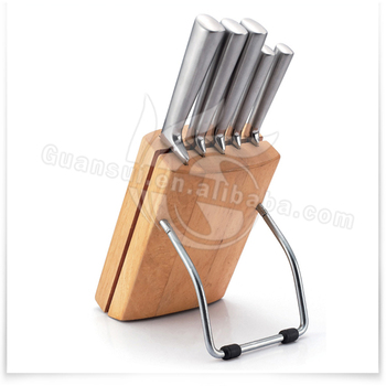 Stainless Steel Kitchen Knife Set With Wooden Block Buy