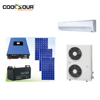 COOLSOUR Split Air Conditioner Solar Powered Hybrid DC Solar Air Conditioner