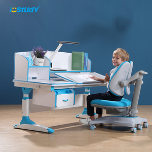 Modern Blue Kids Study Table Design for Student