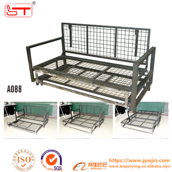 King Size Fashion Fold Out Convertible Wooden Slat Metal Sofa Bed Frame