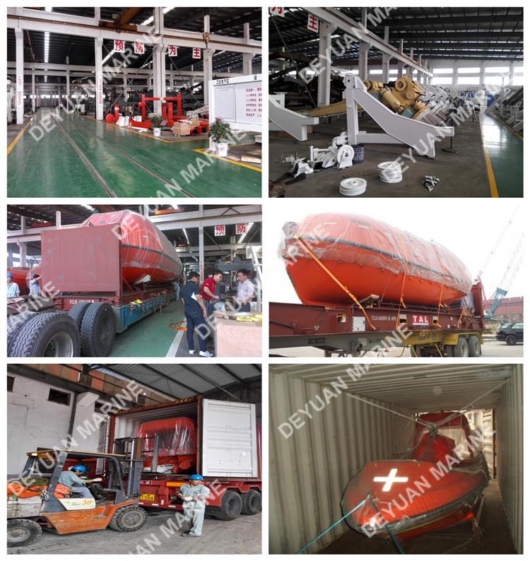 20~40 Person F.r.p Fiberglass Totally Enclosed Life Boat Aluminum ...
