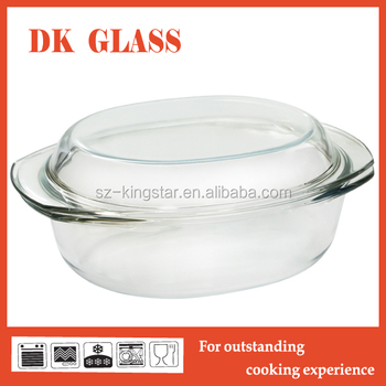Microwave Oven Safe Clear Glass Cooking Pot Transparenrt Pyrex Glass