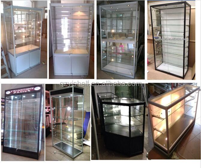 Glass Perfume Display Stands/aluminium Frame Glass Showcase/wall ...