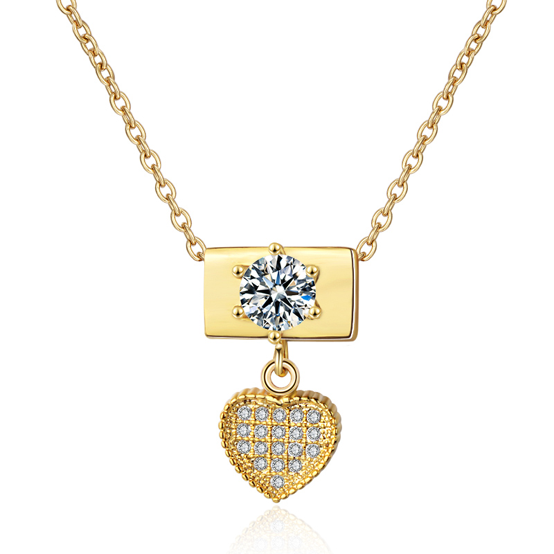 Fashion Jewelry Zircon Engagement Wedding Heart Shape Pendent Necklace