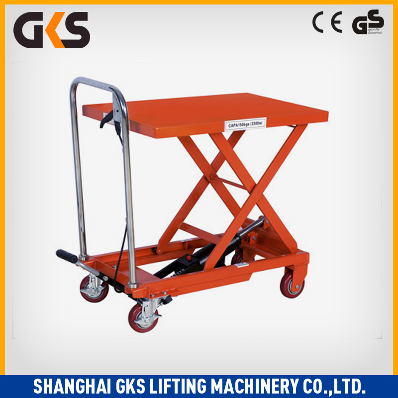 lift carts/hand hydraulic table truck/trolley lifter
