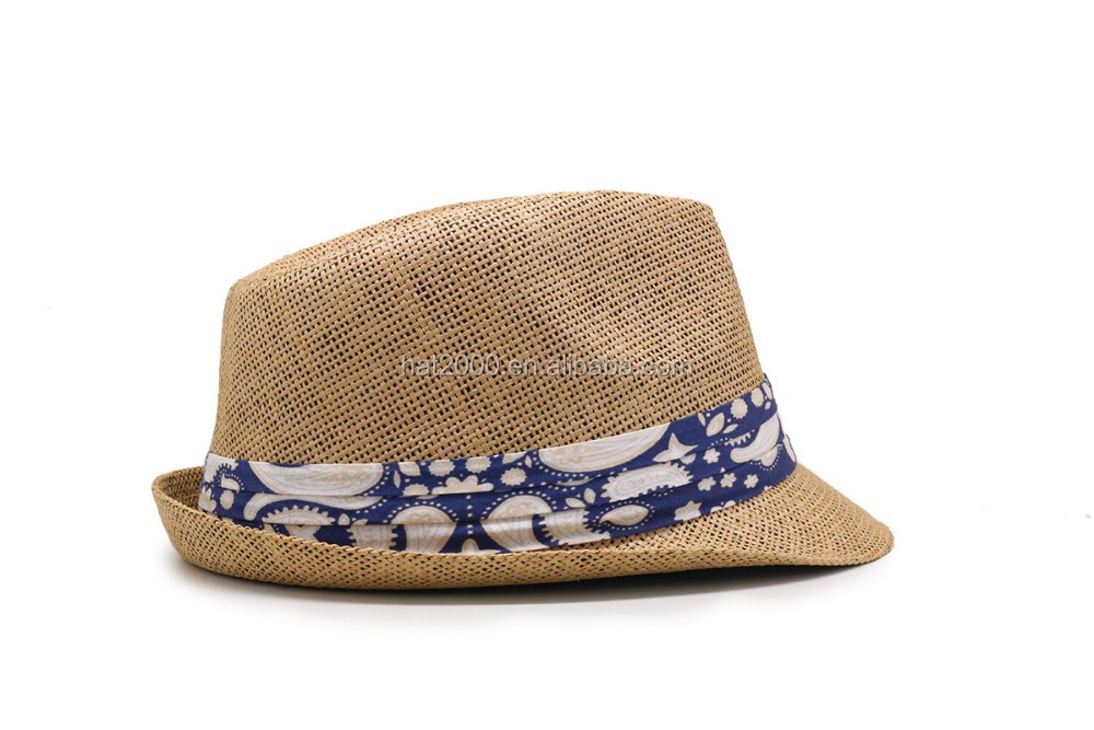 Summer styles holiday lady straw fedora hats women beach straw trilby hats