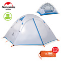 NatureHike New Arrived 210 135 110 Double Layer 2 Person Outdoor Sports Large Camping Hiking Waterproof