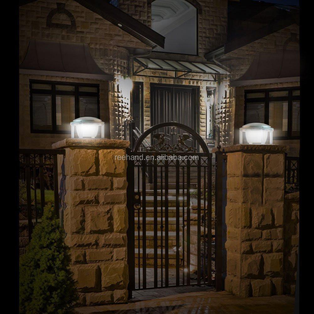 6v 1 5w Solar Panel Powered Pillar Light Outdoor Wall