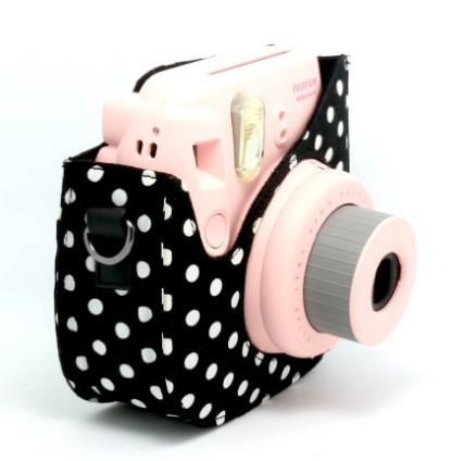 Fashion White Dot Cloth Camera Bag Fuji Mini Case For Fujifilm Instax 8