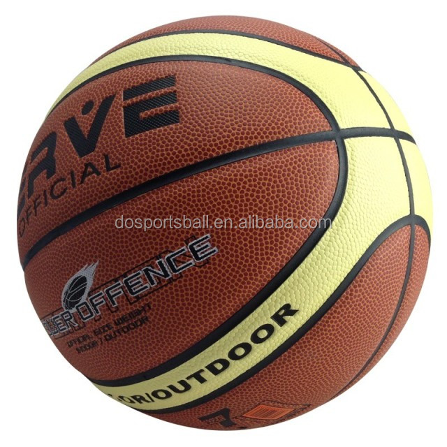 cheap leather basketball / PVC laminated basketball custom logo printing