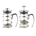 Kitchen French Coffee Press 34 Oz Espresso and Tea Maker with Triple Filters, Stainless Steel Plunger and Heat Resistant Glass