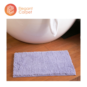 wholesale soft waterproof antislip rubber baking chenille bath tub mat