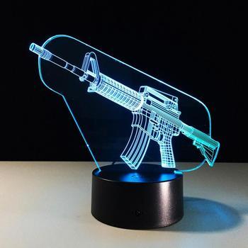 Horse Snake Shark Gun 3d Deco Light 3d Led Table Lamp