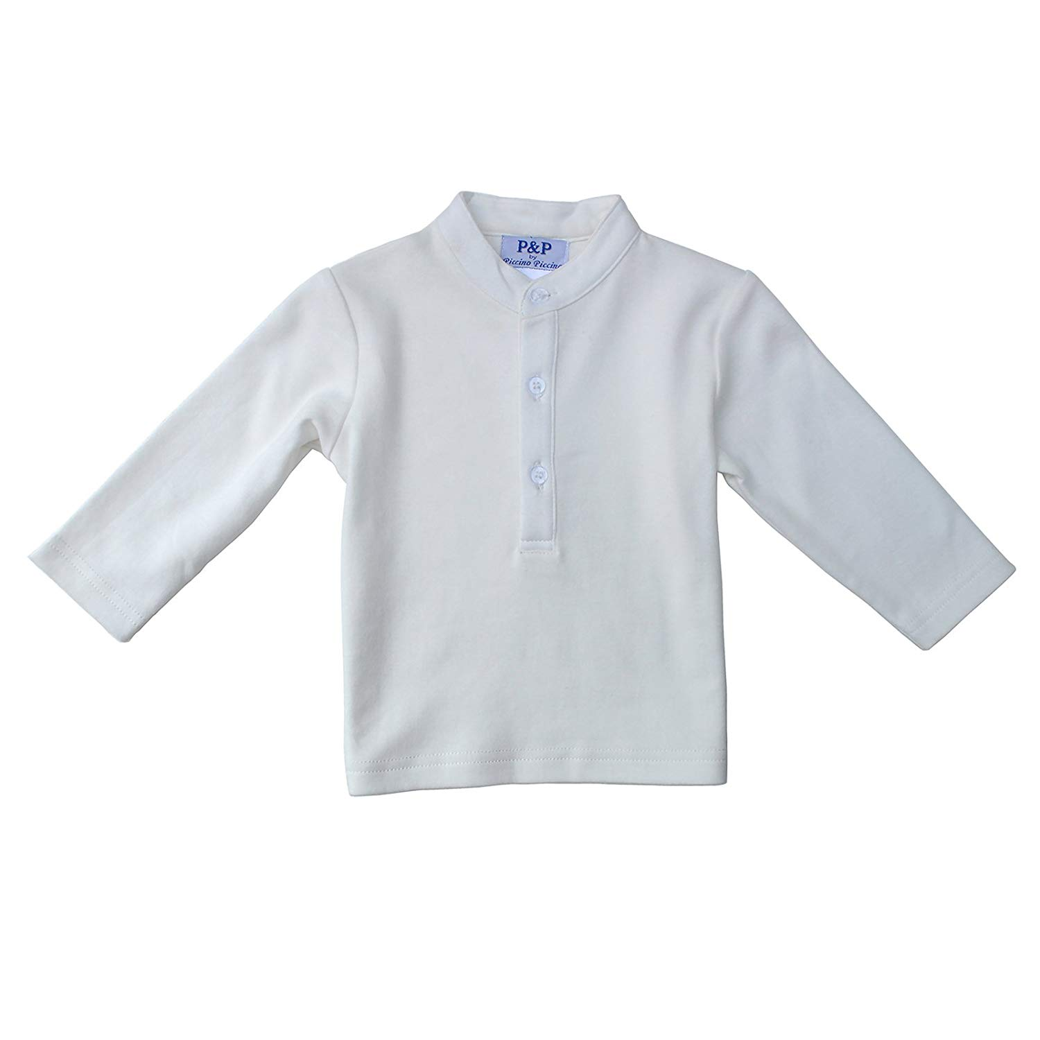 Piccino Piccina Baby Boys Buttoned Shirt - Cream Colored
