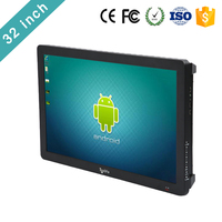 Factory price led tv display advertise indoor 32 inch touch screen wall mounted android tablet