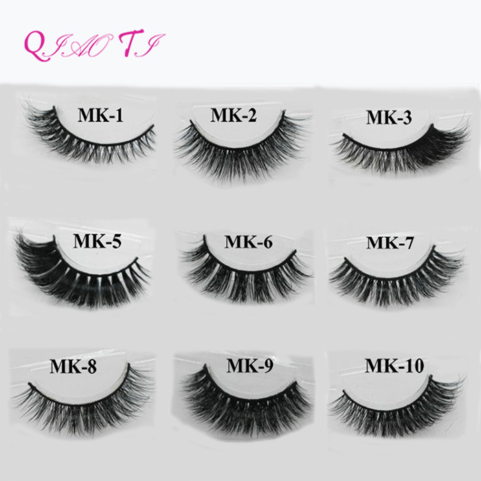 Wholesale Alibaba 3d Mink Fur Lashes Natural False Eyelashes 100