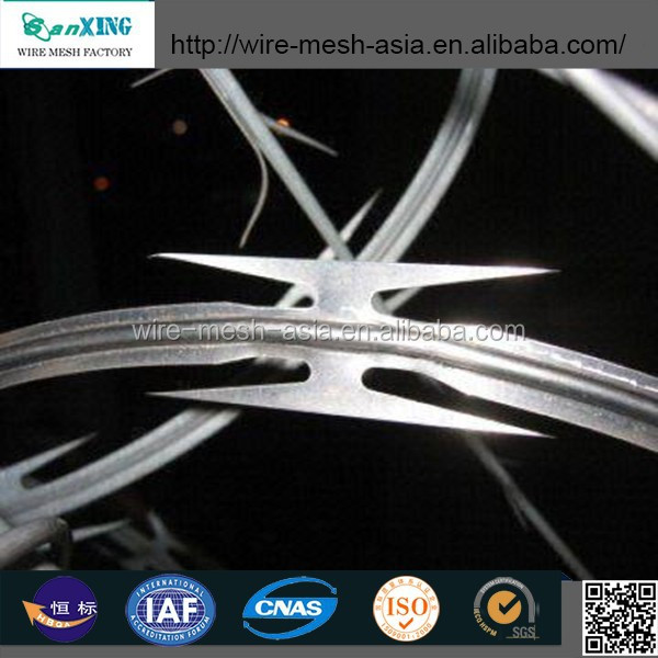 Stainless Steel Material CBT-65 Concertina Razor Barbed Wire for Prison Fence