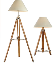 Zhongshan Manafucture Tripod Lights Industrial Adjustable Wooden Floor Lamp