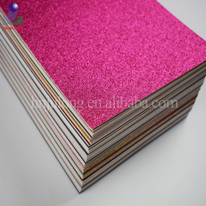 Hot selling 300gsm green glitter paper in china