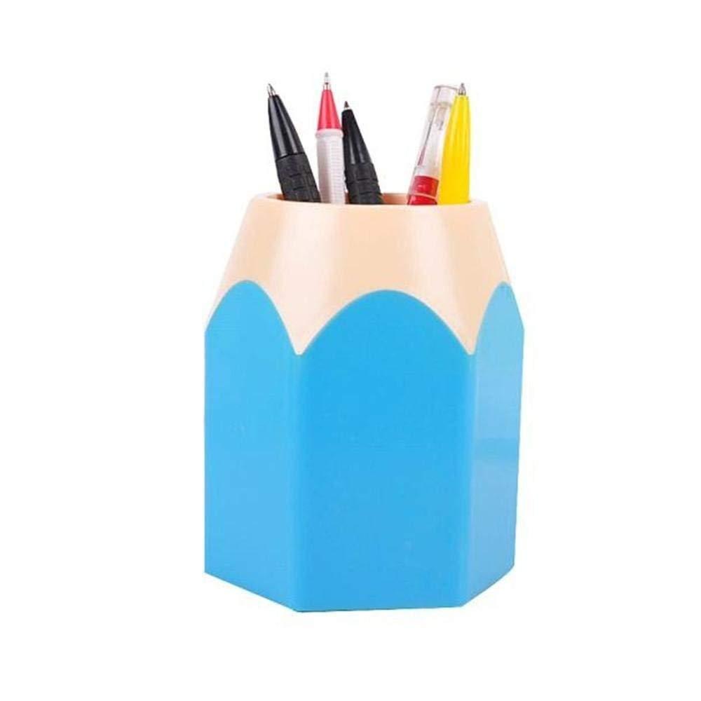 Office & School Supplies Persevering Stick On Desktop Makeup Storage Pen Holder Plastic Desk Organizer Stationery Pen Holders